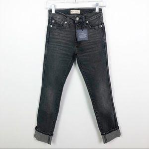 Gap High Rise Slim Straight Jeans Black Size 24